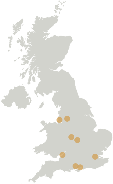 UK cities including Bristol, Birmingham, Coventry, Liverpool, Manchester, Portsmouth, and Southampton